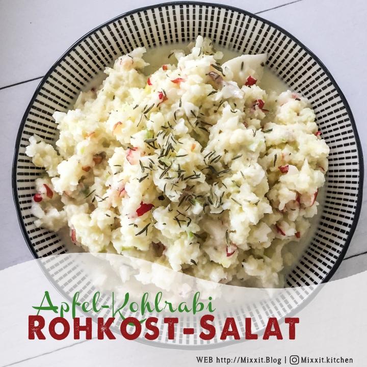 Kohlrabi-Apfel-Salat mit Thymiandressing