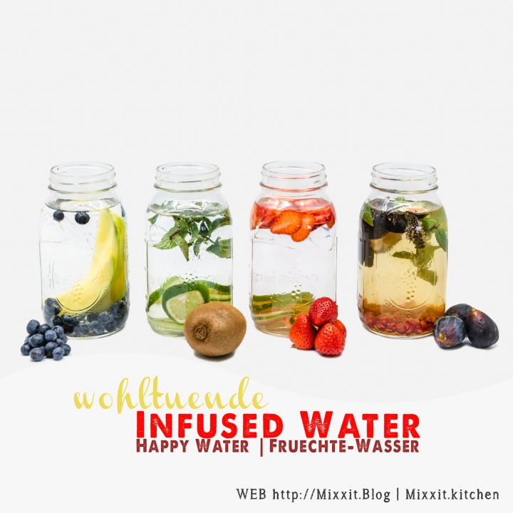 Infused Water – 4 wohltuendeVarianten