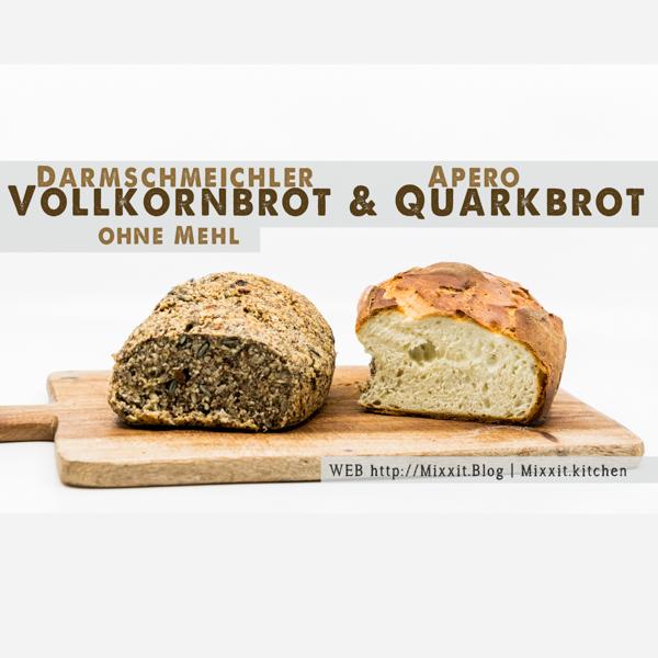 Vollkornbrot ohne Gluten &Quark-Weissbrot